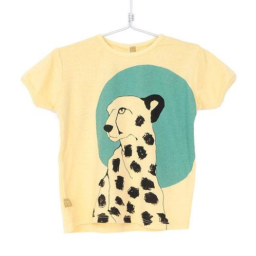 Lotiekids T-Shirt Gialla - Leopardo
