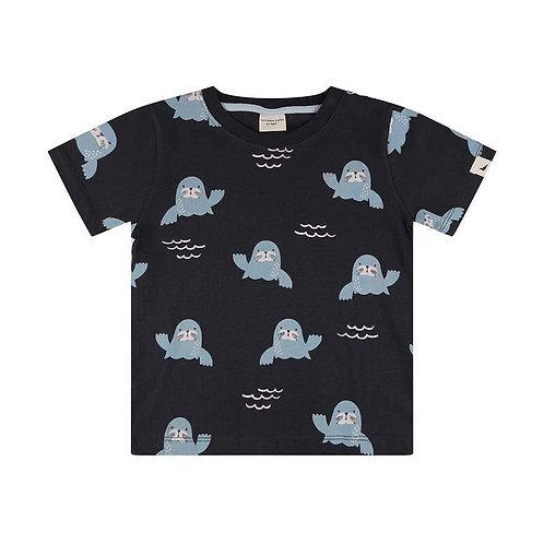 Turtledovelondon T-Shirt Blu - Foche