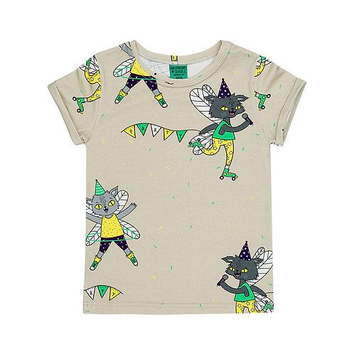Raspberry Republic T-Shirt Beige - Gatto