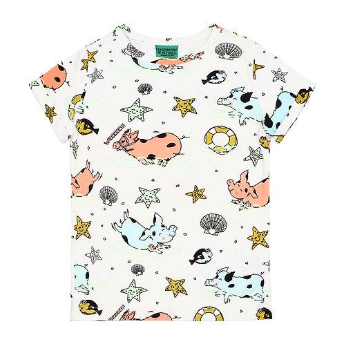 Raspberry Republic T-Shirt Bianca - Maialini