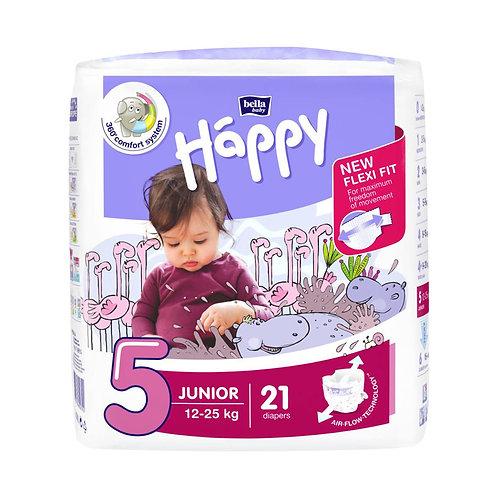 Pannolini Happy BellaBaby – 5 Junior 12/25kg – 21 pezzi