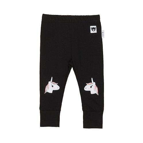 Huxbaby Pantaloni Neri - Unicorni