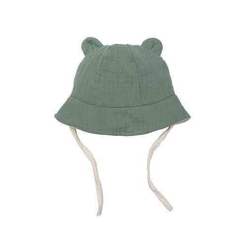Wooly Organic Cappello con Orecchie - Verde