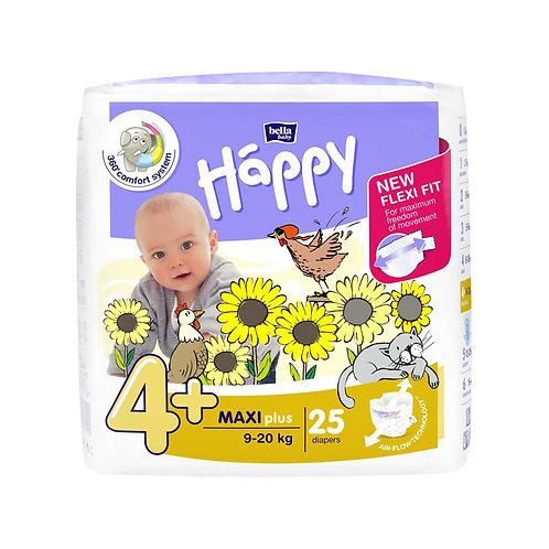 Pannolini Happy BellaBaby – 4+ Maxi plus 9/20kg – 25 pezzi