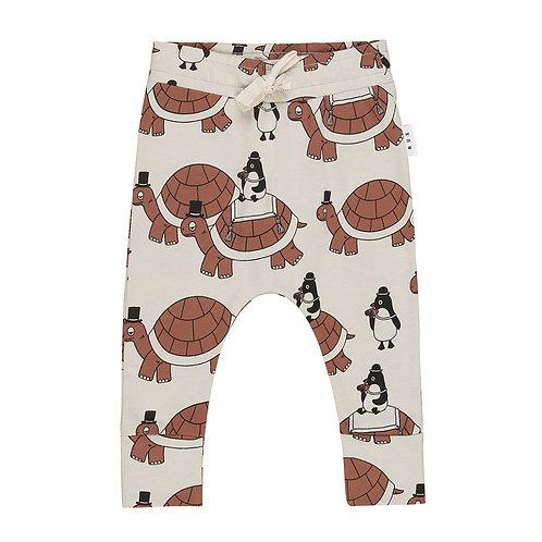Huxbaby Pantaloni Panna - Tartaruga e Pinguino