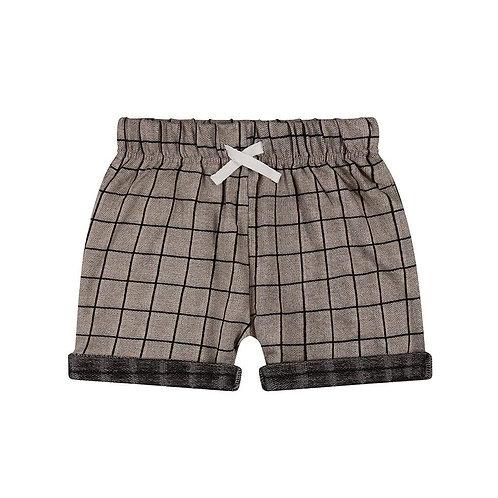 Turtledovelondon Pantaloncino Beige - Quadri
