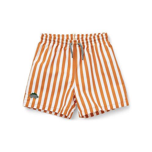 Liewood Costume a Righe - Bianco e Arancio