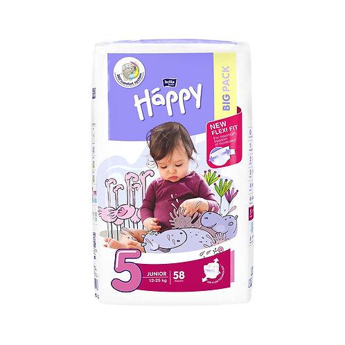 Pannolini Happy BellaBaby – 5 Junior 12/25kg – 58 pezzi