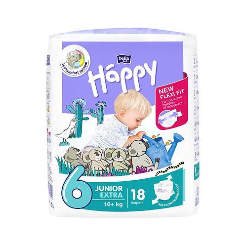 Pannolini Happy BellaBaby – 6 Junior extra 16+kg – 18 pezzi