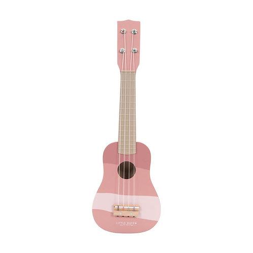 Little Dutch Chitarra in legno - Rosa