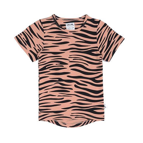CarlijnQ T-Shirt Rosa - Tigrato