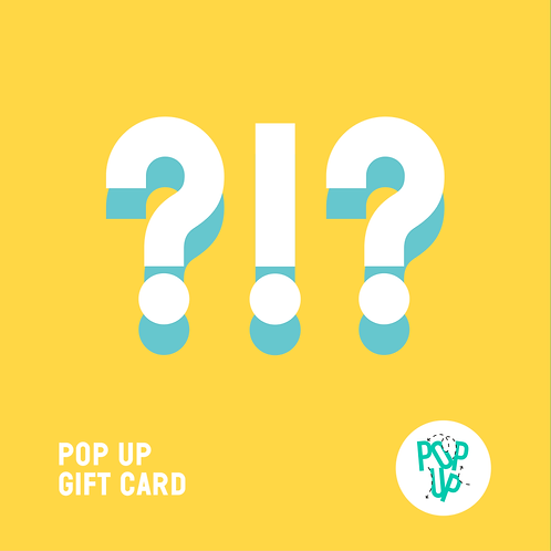 Pop up Gift Card - Importo personalizzato