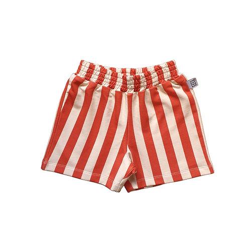 One Day Parade Pantaloncini a Righe - Beige e Rosso