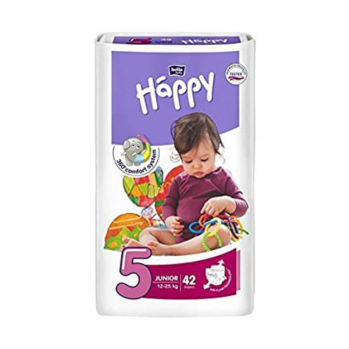 Pannolini Happy BellaBaby – 5 Junior 12/25kg – 42 pezzi