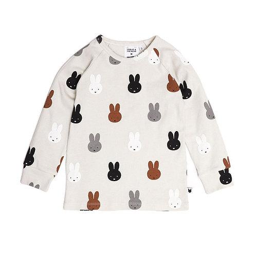 Tobias and the Bear T-Shirt Manica Lunga - Conigli