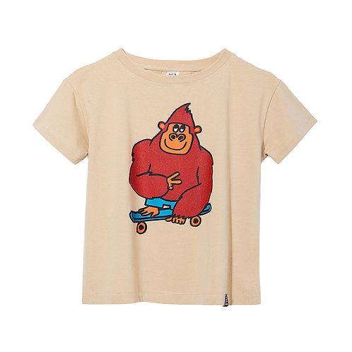 KukuKid T-Shirt Beige - Gorilla