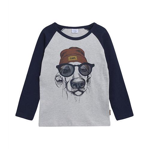 Hust&Claire T-Shirt Grigia - Cane