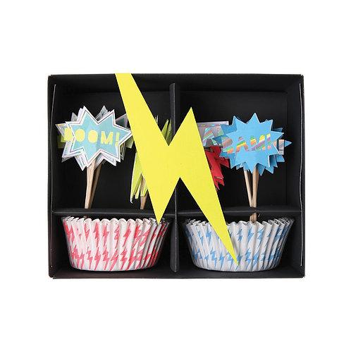 Meri Meri Cupcake Kit  - Supereroi