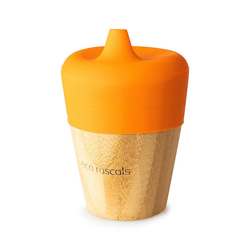 Eco Rascals Bicchiere con Beccuccio - Arancio