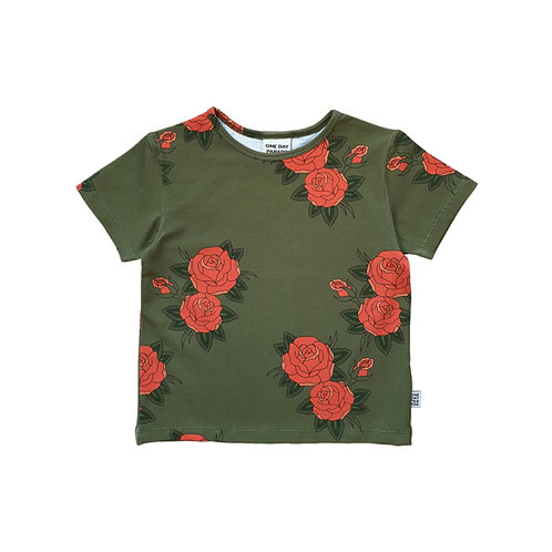 One Day Parade T-Shirt Verde - Rose