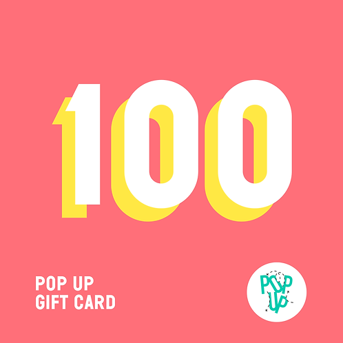 Pop up Gift Card - 100 €