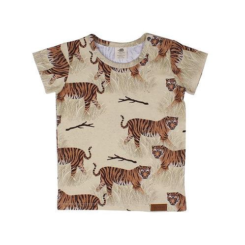 Walkiddy T-Shirt Beige - Tigri