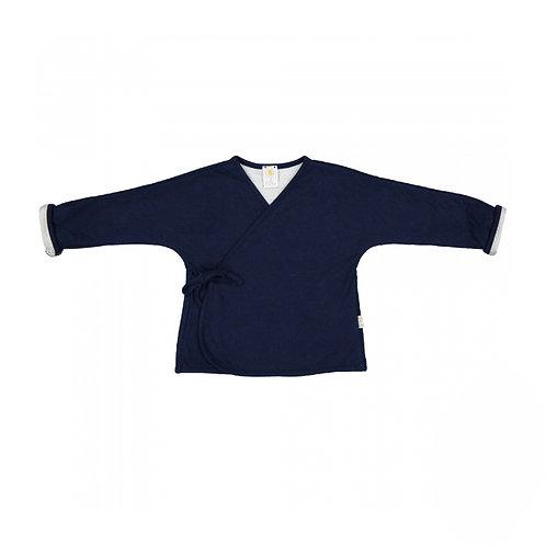 Filobio Giacca Kimono in Cotone Biologico - Blu