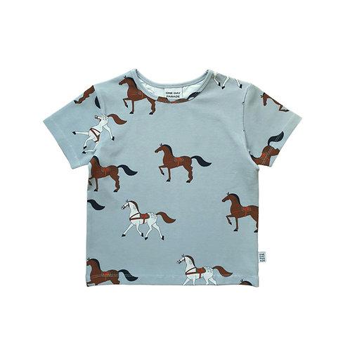 One Day Parade T-Shirt Azzurra - Cavalli