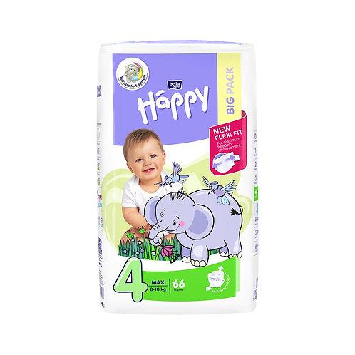 Pannolini Happy BellaBaby – 4 Maxi 8/18kg – 46 pezzi