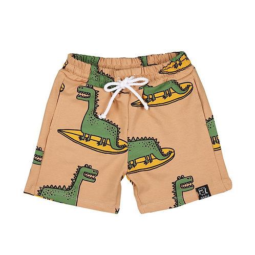 KukuKid Pantaloncini Arancio - Dinosauri Surf