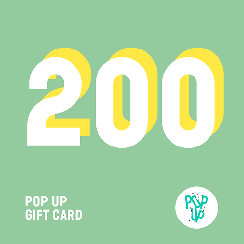 Pop up Gift Card - 200€