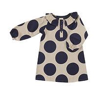 AW19-Ruffle-Neck-Dress-GiantSpot-InkBlue
