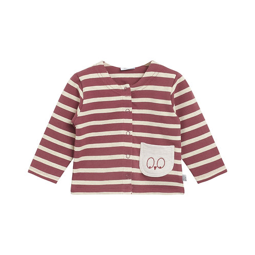 Hust&Claire  Cardigan a Righe - Bordeaux