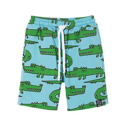KukuKid Pantaloncini Azzurri - Coccodrillo