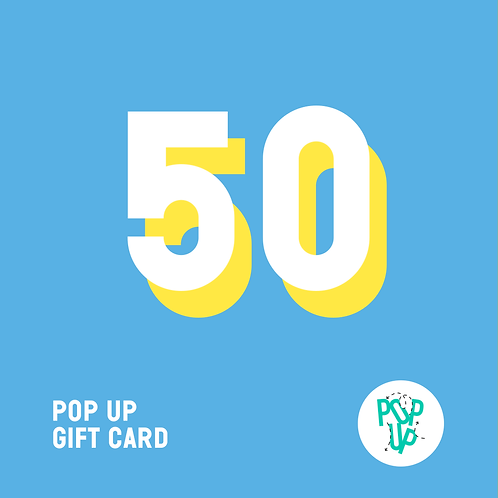 Pop up Gift Card - 50 €