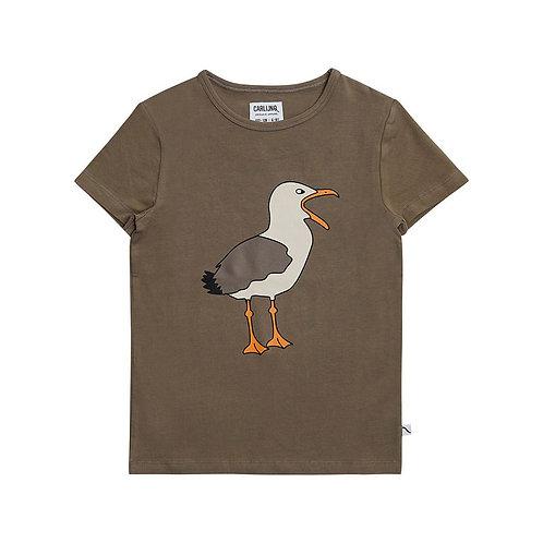 CarlijnQ T-Shirt Marrone - Gabbiano