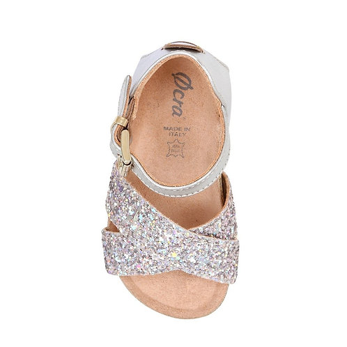 Ocra - Sandalo Pelle Glitter