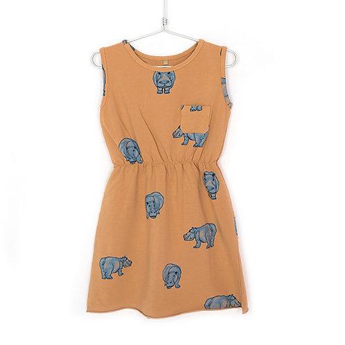 Lotiekids Vestito Arancione - Ippopotami