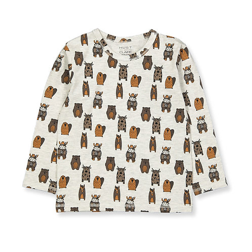 Hust&Claire T-Shirt Bianca - Animali