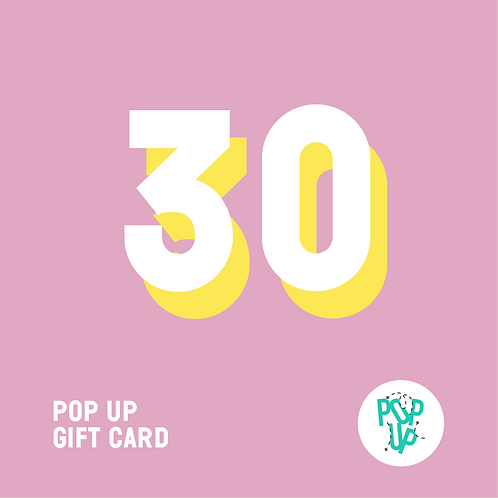 Pop up Gift Card - 30 €