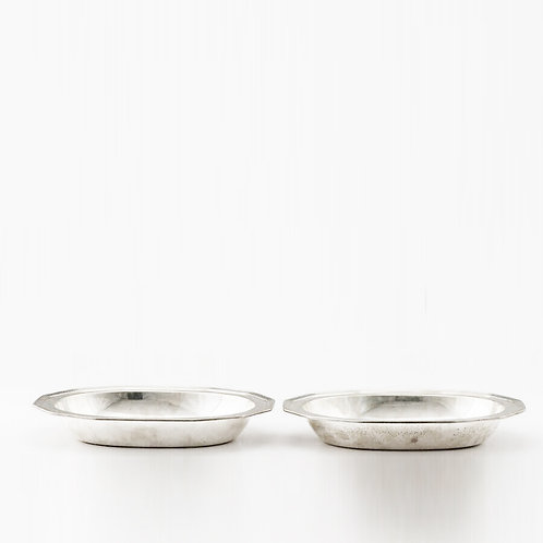 PAIR OF TIFFANY & CO. STERLING SILVER SERVING BOWLS ART DECO