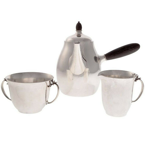 GEORG JENSEN STERLING SILVER TEA SET