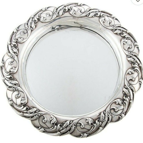 GORHAM STERLING SILVER MOUNTED MIRRORED PLATEAU