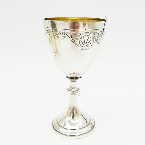 EARLY WHITING STERLING SILVER GOBLET / CHALICE