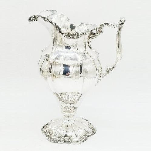 SHREVE & CO. LARGE VICTORIAN STYLE STERLING SILVER EWER