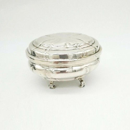 GERMAN SILVER 18TH CENTURY COVERED BOX AUGSBURG