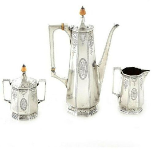BARBOUR SILVER CO. STERLING SILVER TEA SERVICE