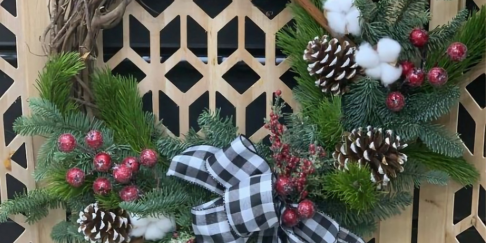 Christmas Wreath with Blooming Designs