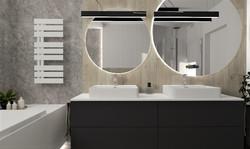 Łazienka z lustrami