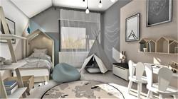 pokój dziecięcy_projekt wnętrza_Lubin
